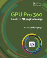 GPU Pro 360 Guide to 3D Engine Design PDF
