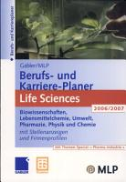 Gabler   MLP Berufs  und Karriere Planer Life Sciences 2006 2007 PDF