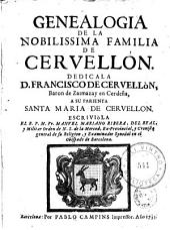 Genealogia de la nobilissima familia de Ceruellón ...