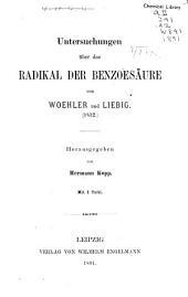 Untersuchungen über das radikal der benzoesäure