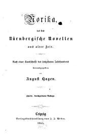 Norika: das sind Nürnbergische Nobellen aus alter Zeit : nach einer Handschrift des sechzehnten Jahrhunderts