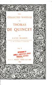The Collected Writings of Thomas De Quincy