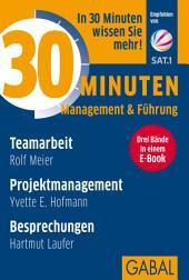 Sonderedition 30 Minuten Management & Führung: Drei Bände in einem E-Book: Teamarbeit, Projektmanagement, Besprechungen