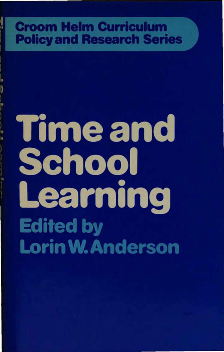 Time and School Learning