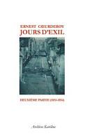 Jours d exil PDF
