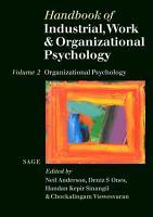 Handbook of Industrial  Work   Organizational Psychology PDF