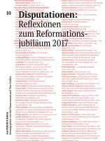 Disputationen  Reflexionen zum Reformationsjubil  um 2017 PDF