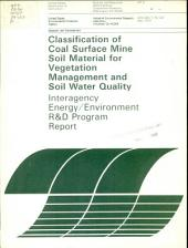 Classification of coal surface mine soil material for vegetation management soil water quality