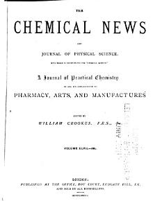 The Chemical News and Journal of Industrial Science  with which is Incorporated the  Chemical Gazette   PDF