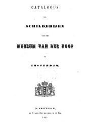 Catalogus der schilderijen van het Museum Van der Hoop te Amsterdam