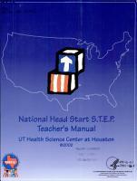 National Head Start S T E P  teacher s manual PDF