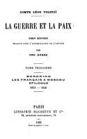 La guerre et la paix PDF