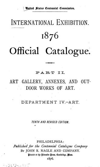 Art gallery  annexes  and outdoor works of art  Department IV  Art PDF