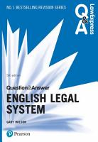 Law Express Question and Answer  English Legal System PDF eBook PDF
