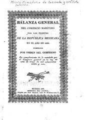 Balanza general del comercio marítimo por los puertos de la República Mexicana...