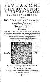 Vitae comparatae illustrium virorum: Volume 3
