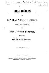 Obras poeticas de Don Juan Nicasio Gallego