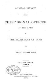 Annual Report of the Chief Signal Officer: Part 2
