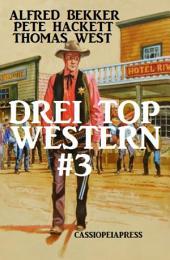 Drei Top Western #3: Nugget Jäger/ Warrington - ein Mann aus Granit/ Marshal Logan und der gefährliche Auftrag: Cassiopeiapress
