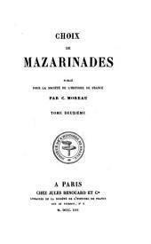Choix de mazarinades, publ. par C. Moreau: Volume2