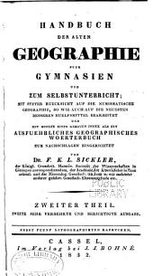 Handbuch der alten Geographie für Gymnasien und zum Selbsunterricht: mit steter Rücksicht auf die numismatische Geographie, Band 2