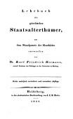 Lehrbuch Der G Echischen Antiquit Ten