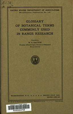 Glossary of Botanical Terms Commonly Used in Range Research