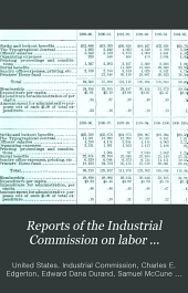 Reports of the Industrial Commission on Labor Organizations, Labor Disputes, and Arbitration: Volume 2; Volume 17