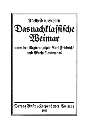 t   Unter der regierungszeit Karl Friedrichs und Maria Paulownas PDF