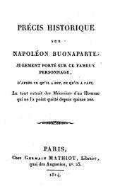 Precis histoirque sur Napoleon Bonaparte (etc.).