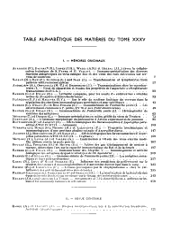 Revue d immunologie