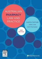 Australian Pharmacy Law and Practice PDF