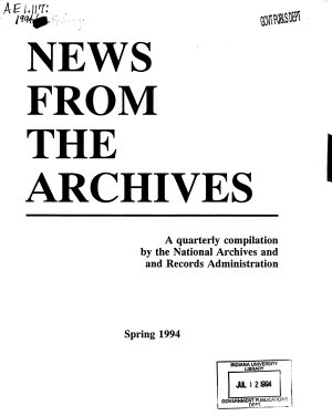 News from the Archives PDF