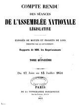 Compte rendu des séances des l'Assemblée nationale: Volume15