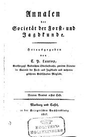 Annalen der Societät der Forst- und Jagdkunde: Band 5
