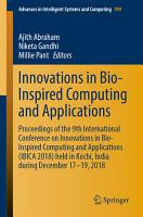 Innovations in Bio Inspired Computing and Applications PDF