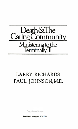 Death   the Caring Community