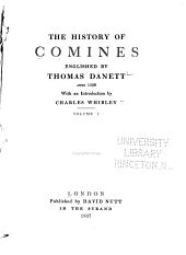 The History of Comines: Volume 1