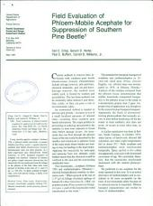 Field evaluation of phloem-mobile acephate for suppression of southern pine beetle