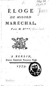 Eloge de milord Maréchal