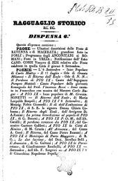 Ragguaglio storico ec. ec. dispensa 6.a