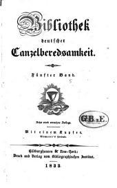 Bibliothek deutscher Canzelberedsamkeit: Bände 5-6