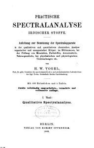 Practische spectralanalyse irdischer stoffe PDF