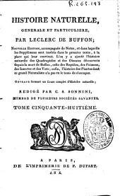 Histoire naturelle generale et particuliere: Volume58