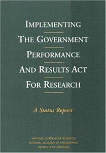 Implementing the Government Performance and Results Act for Research Book