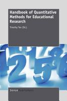 Handbook of Quantitative Methods for Educational Research PDF