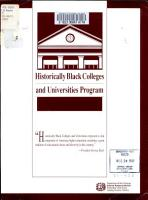 Historically Black Colleges and Universities Program PDF