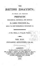 The British Essayists: Adventurer