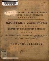 De Numae Pompilii libris publica auctoritate Romae combustis