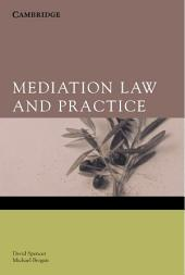 Mediation Law and Practice